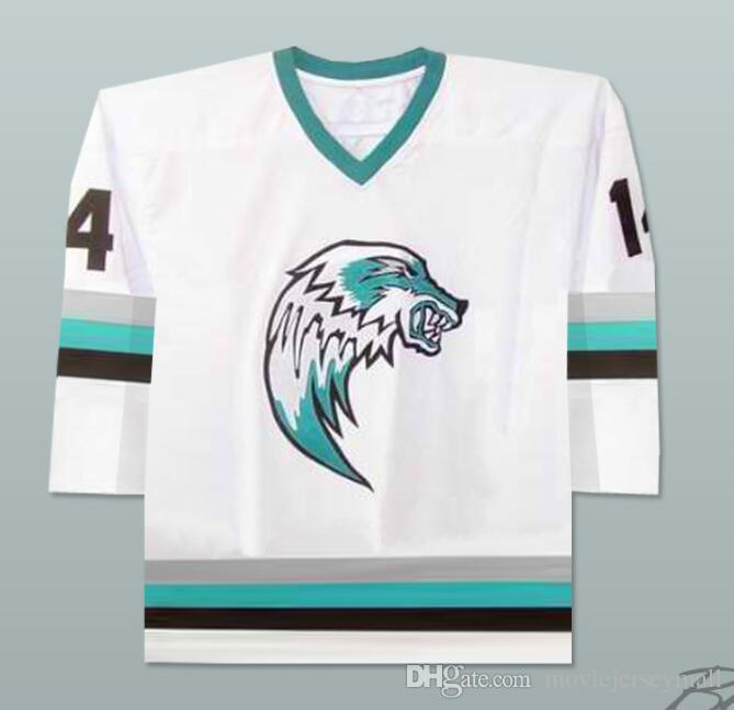 66f5ce14b0f 2019 The Lansing Ice Wolves Derek Thompson 14 Minor League Hockey Jersey  Richard Goudreau Les Boys Hockey Jerseys Custom Any Name Number From ...