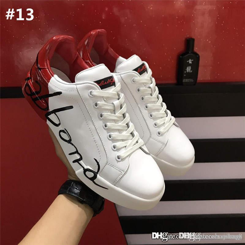 High Quality Dolce   Gabbana Donna In Pelle Di Vitello Bianco D.G Sneakers  Running Shoes With Original Box Size 38 44 Office Shoes Running Shoes From  Jinang ... 317111b201c