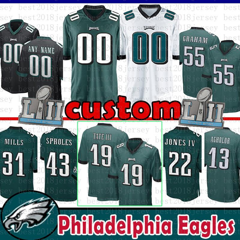 Cheap 26 Ajayi Custom Jersey 19 Golden Tate III Philadelphia Eagles 55  Brandon Graham 22 Jones 65 Lane Johnson 29 Murray 12 Cunningham Sproles a53cb0505