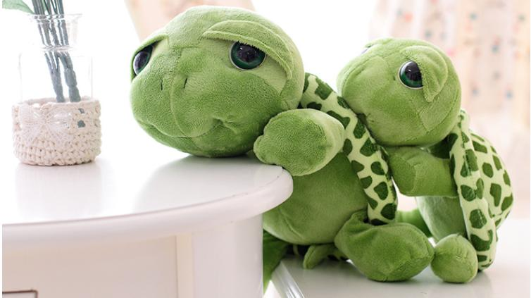 2019 20cm Cute Soft Stuffed Turtle Plush Animal Big Eyes Turtle