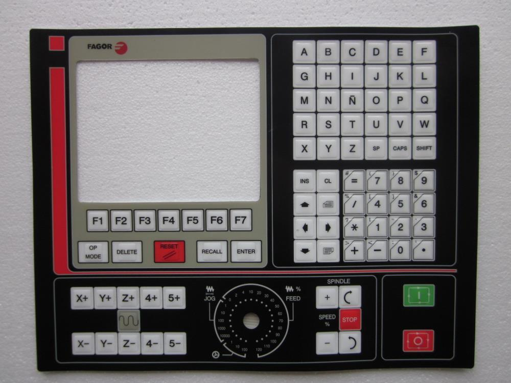 Fagor 8025 8025T 8035 8050 8055 CNC HMI Panel Membrane Keypad buttons