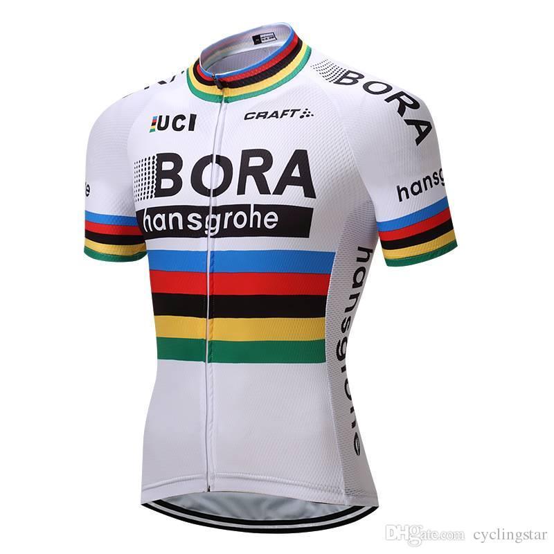 c10e5c5b8 Satın Al 2018 Bisiklet Pro Team Bora Bisiklet Jersey Bisiklet Giyim ...