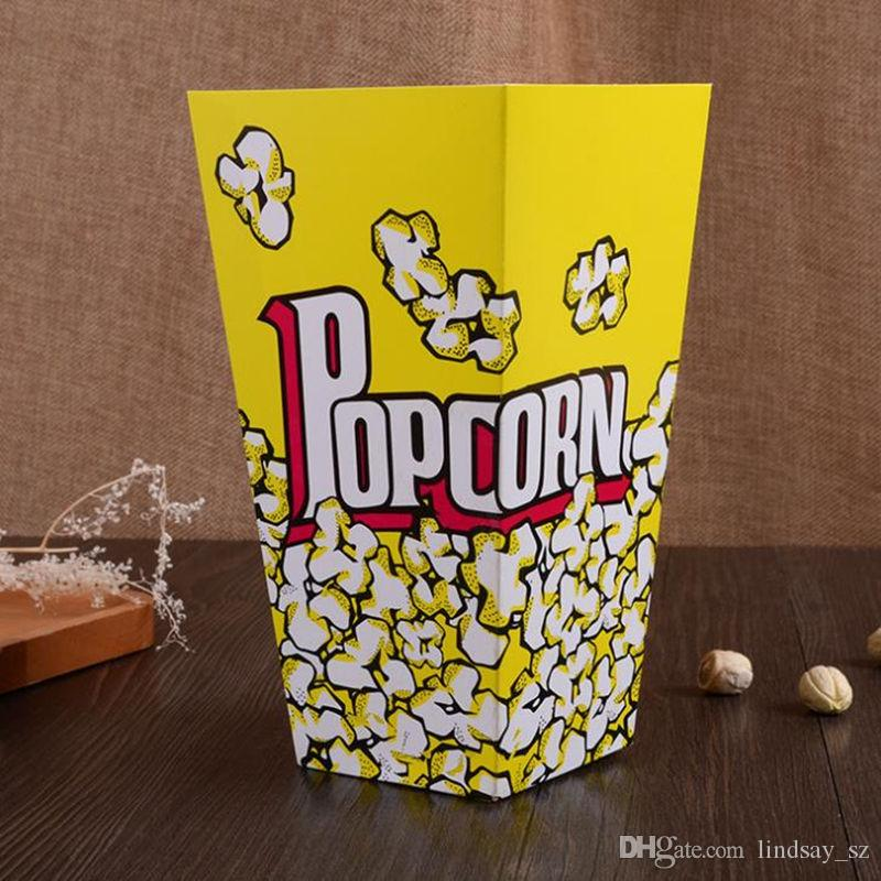 Food Safe Mini Party Paper Popcorn Boxes Candy Favor Bags Wedding Birthday Movie Party Supplies fast shipping
