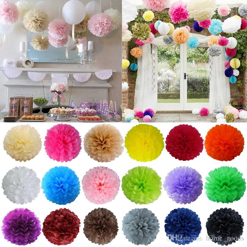 2019 Wedding Decorations Paper Flowers Tissue Pompoms Artificial