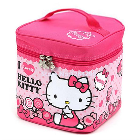 New Hello Kitty Girls Kids Big Oxford Theraml Aluminum Foil Lunch ... 9d84c9772faaa