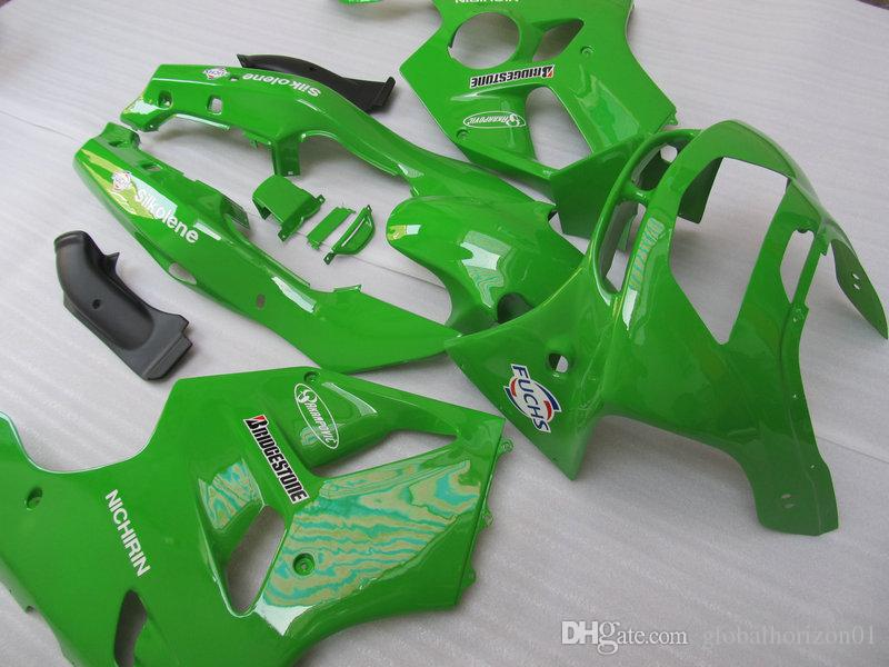 Kit de carenado de motocicleta para KAWASAKI Ninja ZX-6R ZX 6R 1994 1995 1996 1997 ZX6R 94 95 96 97 Conjunto de carenados de ABS verde + 7gifts