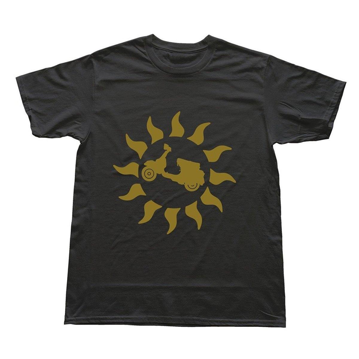 807a44428 Compre Camiseta YESZXC Masculina Vespa Sun G1 T Preto De Liguo0051, $12.79    Pt.Dhgate.Com