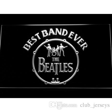 2018 The Beatles Logo In Bass Drum Best Led Neon Sign Light Football Custom Signs Design Your Own Bar Drop Ship From Club Jerseys