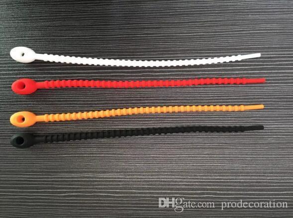 Saco de Silicone Gravatas 100% grau alimentício Cabo de Gerenciamento Zip Tie Twist All-purpose Multi-uso Saco Clipe Pão Tie Food Saver