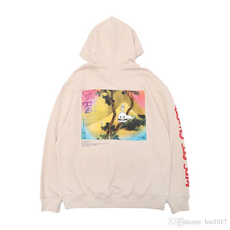 Kids See Ghosts Kanye West Hoodie 2018 New Arrival Printed Pullover