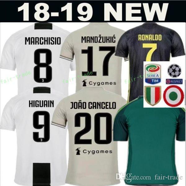 the latest f1024 cb489 2018 2019 Soccer Jersey Juventus FC Men Kits 9 HIGUAIN 10 PLATINI 21 PIRLO  10 BAGGIO 7 DESCHAMPS Football Shirt Make Custom