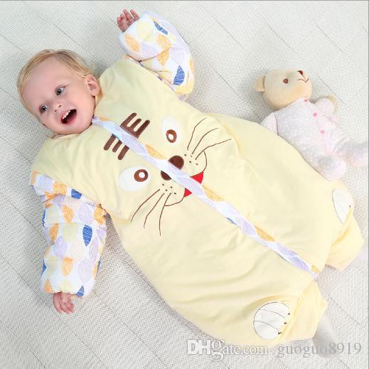 Baby Sleep Sack Cotton Wearable Blanket Toddlers Pajamas For Winter Winter  Thick Cute Jumpsuit For Children Large Sleeping Bags Best Kids Sleeping  Bags From ... 28b3b509d