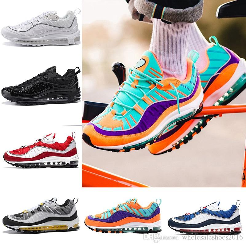 98s size 36-45 2018 Vapormax 98 Bullet Running Shoes Men designer shoes Corss Jogging Walking Sports Athletic mens Run Shoes Outdoor Sneaker discount with credit card outlet nicekicks latest collections for sale JcsKIJn