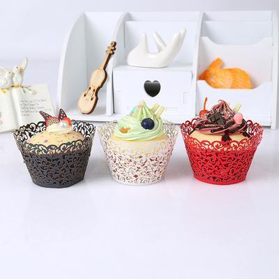 Exquisite Glitzernde Rebe Filigrane Laser Fällen Hochzeit Kekse Dekoration Backen Schokolade Papier Cupcake