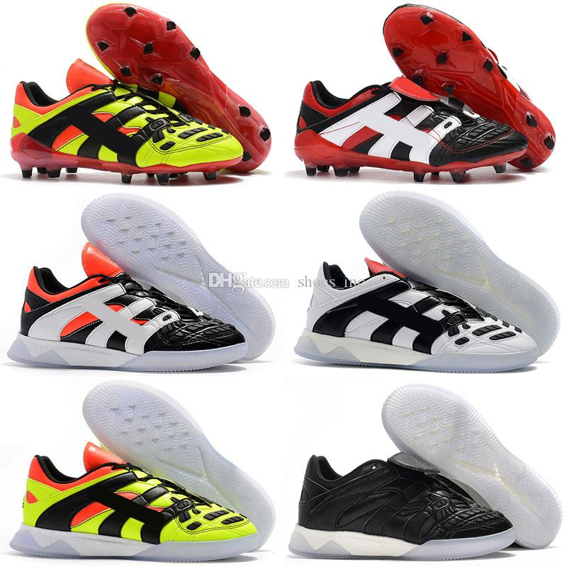 12605c464 2019 New 2018 Predator Accelerator Electricity FG DB David Beckham Becomes  1998 98 Men Soccer Shoes Cleats Football Boots Size 39 46 From Shoes inc