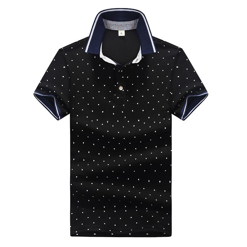4800d01fddb 2019 New Brand Polo Shirt Men Cotton Fashion Polka Dot Printed Male Camisa  Polo Summer Short Sleeve Casual Lapel Polo Shirts Slim Fit From Netecool