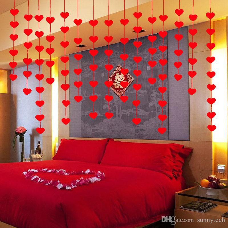 16 Herzen Romantische Hochzeitsdekoration Ehe Raumplan DIY vlies Garland Kreative Liebe Herz Vorhang ZA5819