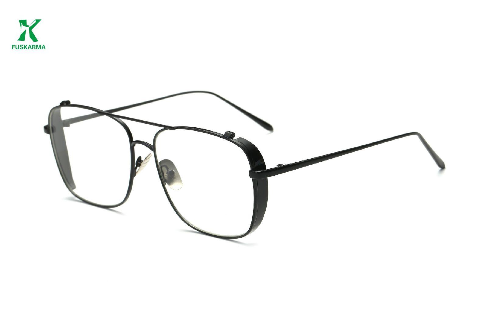 010f9b71be FUSKARMA Women Men Eyewear HD Resin Frame Flat Mirror Alloy Frame ...