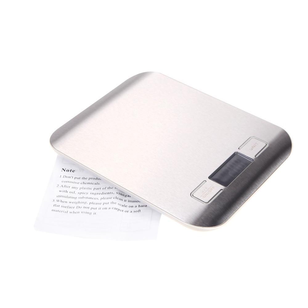 Multifunktions Digital Küchenwaage Edelstahl Elektronische gewichtung Waage 5 kg / 1g 11Lb / 0,002Lb Tara Auto Off Funktion