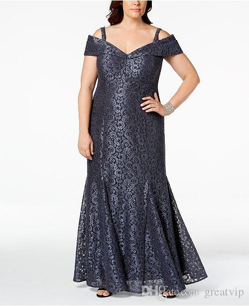 aa53099555e 2019 Bling R M Richards Mother Of The Bride Dresses Plus Size Mermaid Full  Sequins Lace Off The Shoulder Mothers Dress Evening Party Gowns Bride Mother  ...