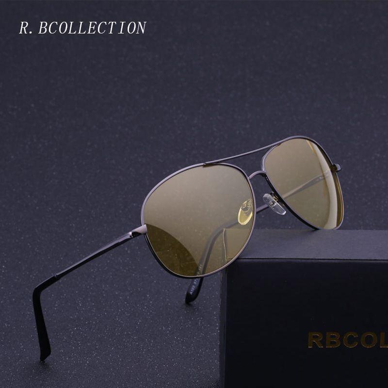 f073ff365b0 Men Night Vision Goggles Yellow Lens Polarized Sunglasses Women Driving  Glasses Driver Aviation Pilot Sun Glasses Oculos UV400 Best Sunglasses For  Men ...