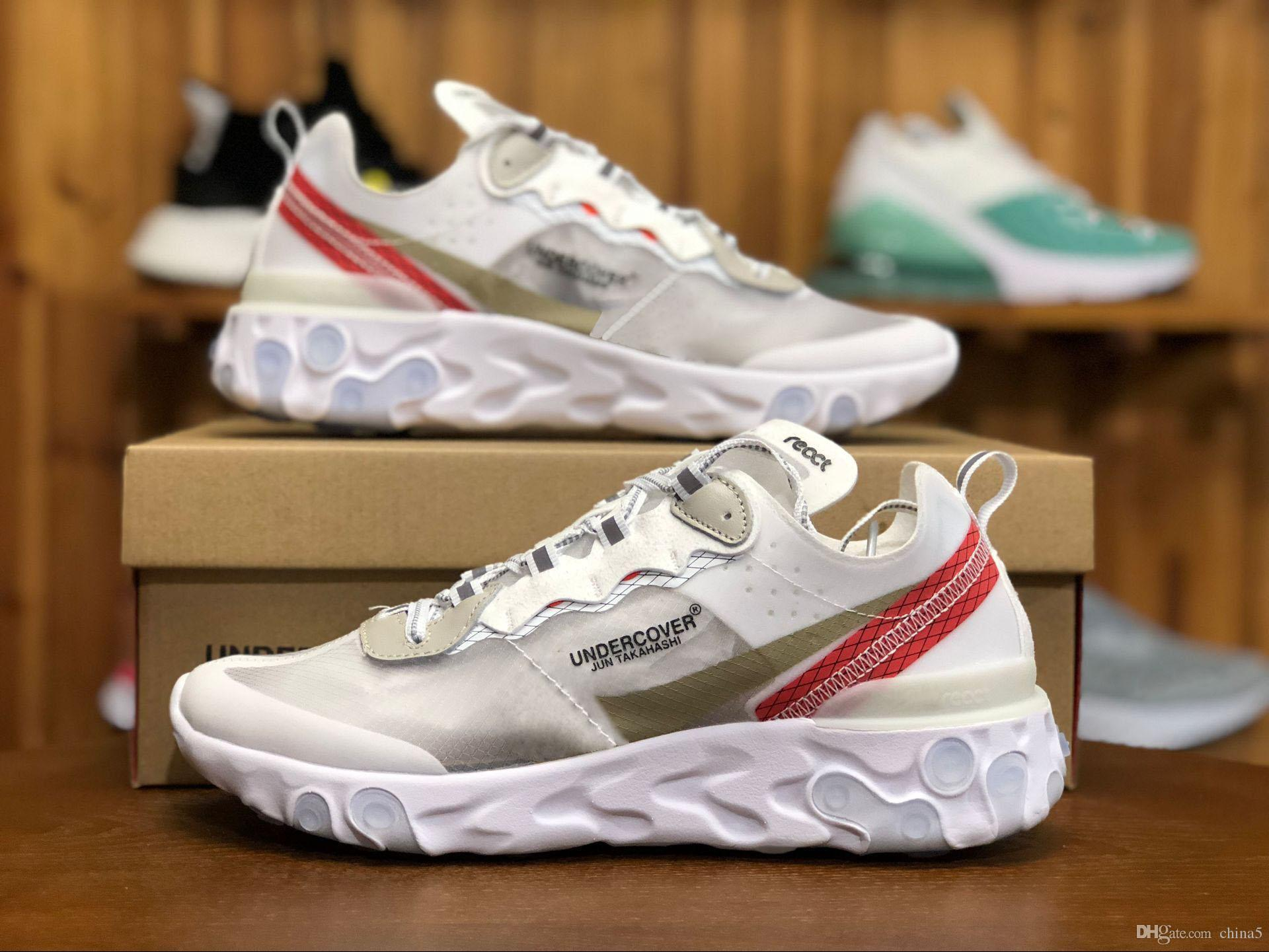 d2bbcc75f347 2019 React Element 87 Running Shoes For Men Women Authentic 2018 Newest 87  Sneakers With Original Box AQ1090 100 From China5