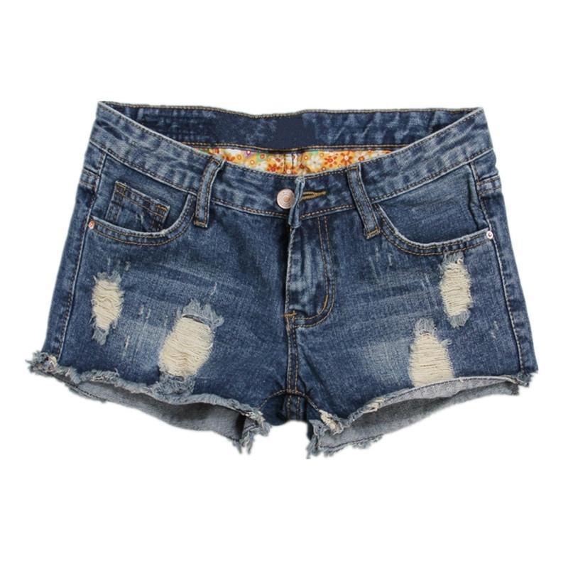 grandes marques style le plus récent dernière sélection de 2019 Gros-2018 été Femmes Motif Denim Short Pantalon Femme Trou Jeans Short  Jeans Femmes Plus Size Denim Shorts Zipper Shorts