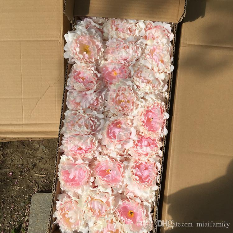 artificial flowers Silk Peony Flower Heads Wedding Party Decoration supplies Simulation fake flower head home decorations wholesale 15cm