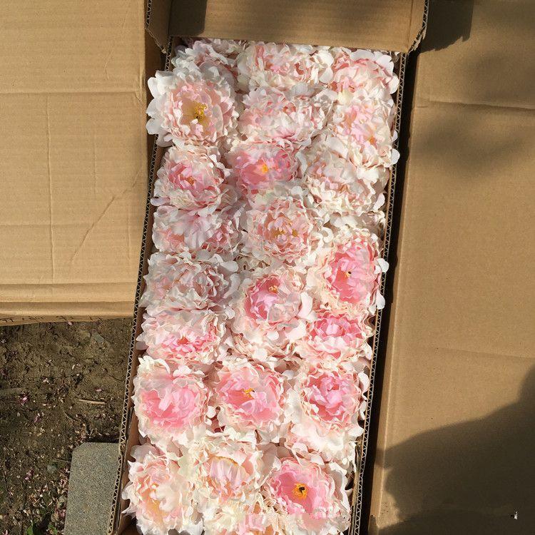 Yapay çiçekler Ipek Şakayık Çiçek Başkanları Düğün Parti Dekorasyon malzemeleri Simülasyon sahte çiçek kafa ev dekorasyonu toptan 15 cm