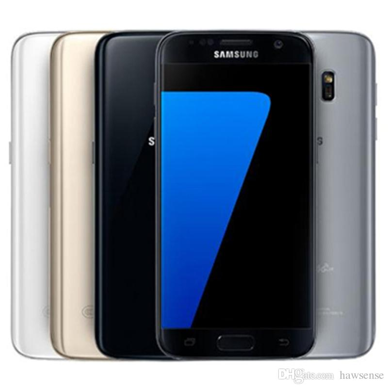 Refurbished Original Samsung Galaxy S7 G930F G930A G930T G930V G930P 5 1  inch Quad Core 4GB RAM 32GB ROM 12MP 4G LTE Unlocked Phone DHL 5pcs