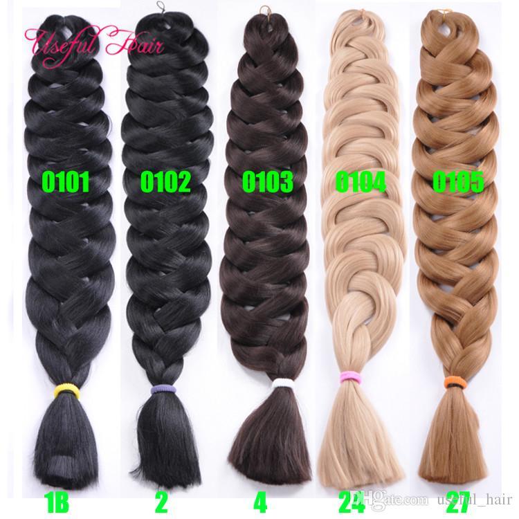 Jumbo kutusu örgüler saç sentetik saç tığ örgüler 82 inç JUMBO BRADIG SAÇ uzatma cheveux 165GRAMS ombre kutusu örgüler siyah kadınlar için