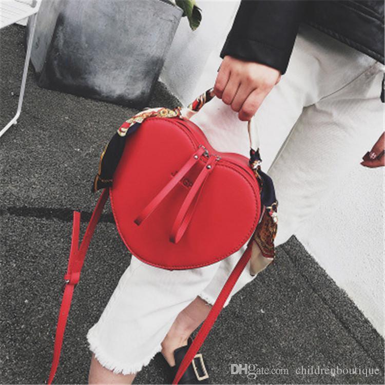 Kids Handbag Korean Fashion Heart Shape Cross-body Bag Baby Girls Candies Messenger Bags Coin Purses Teenager Shopping Travel Bags
