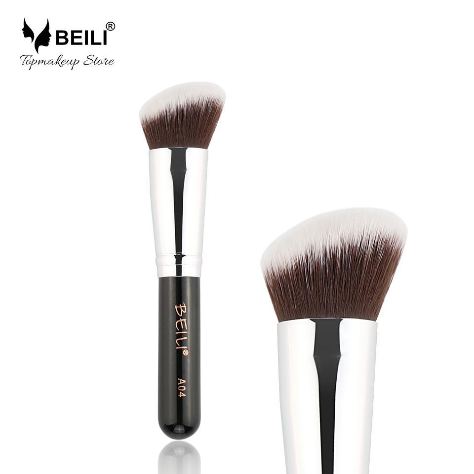 Beili A04 Angled Contour Blusher Makeup Brush Eyeshadow For Brown