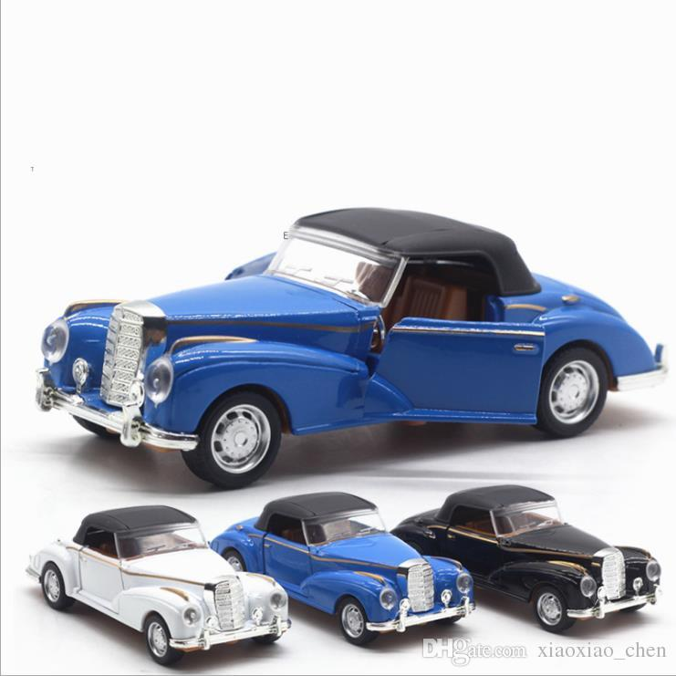 2018 1 :36 Scale Alloy Pull Back Retro Classic Cars 2 Open Door ...