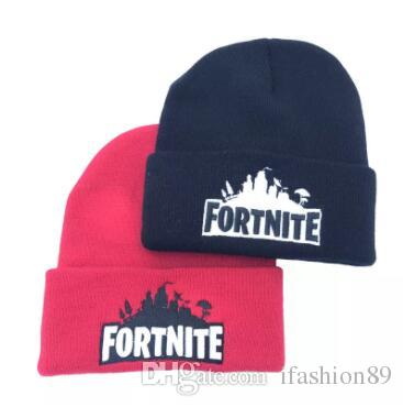 c6480197ce1 Fortnite Battle Knitted Hat Hip Hop Embroidery Knitted Costume Cap Winter  Soft Warm Girls Boys Skuilles Beanies Epacket Custom Beanies Crochet Beanie  ...