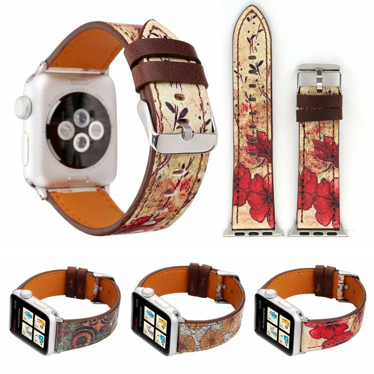 bd3db878a49 Wholesales Price Retro Flower Leather Watch Bracelet For Apple Watch Band  42mm 38mm IWatch Replacement Strap Watchband Watches Leather Strap Watch  With ...