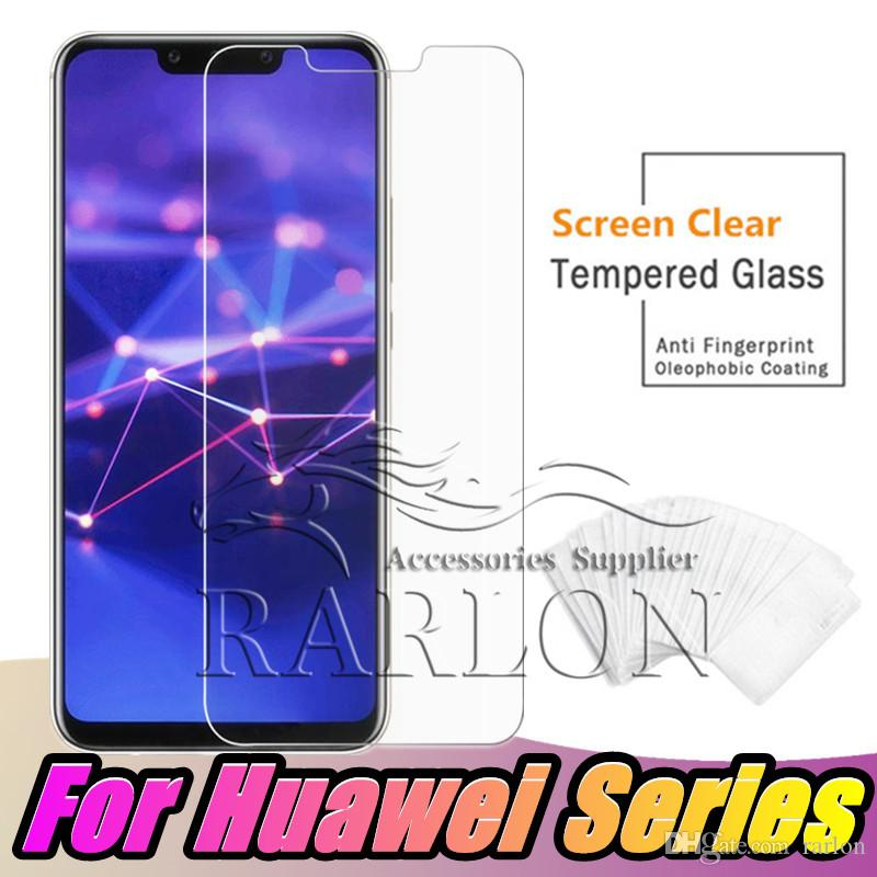 Premium Tempered Glass 9H Hardness Screen Protector Film For Huawei P30 lite P20 PRO Y3 Y5 Y6 Y7 Prime Y9 P Smart 2019
