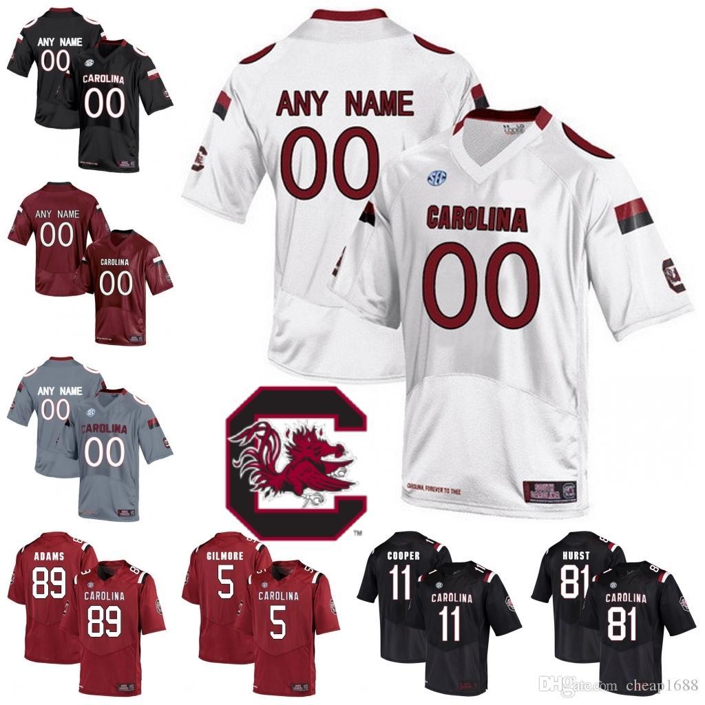NCAA South Carolina Gamecocks 79 Dylan Wonnum 7 Jaycee Horn Dakereon Joyner  6 Josh Vann Red White Black Stitched College Football Jersey UK 2019 From  ... 16a7dc91c