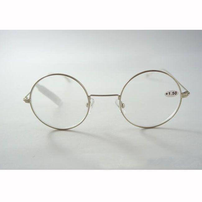 694d64a02 Compre Lente Redonda Retro Óculos De Leitura De Prata Completa Armação De  Metal Óculos De Moda Mulheres Homens Eye Reader Óculos Óculos Vintage + 1.0  ~ + ...