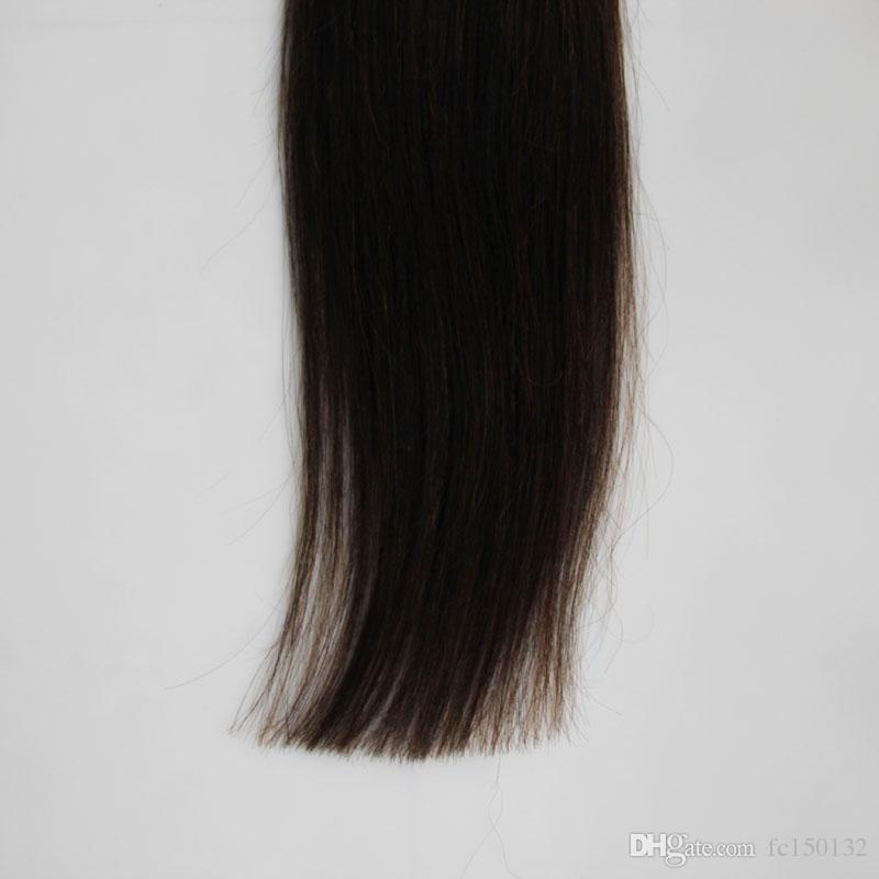 100 г Прямой Человеческий Предварительно Связанные Волосы Слияния Естественный Цвет Я Подсказка Палка Кератина Двойной Нарисованный Реми Волос