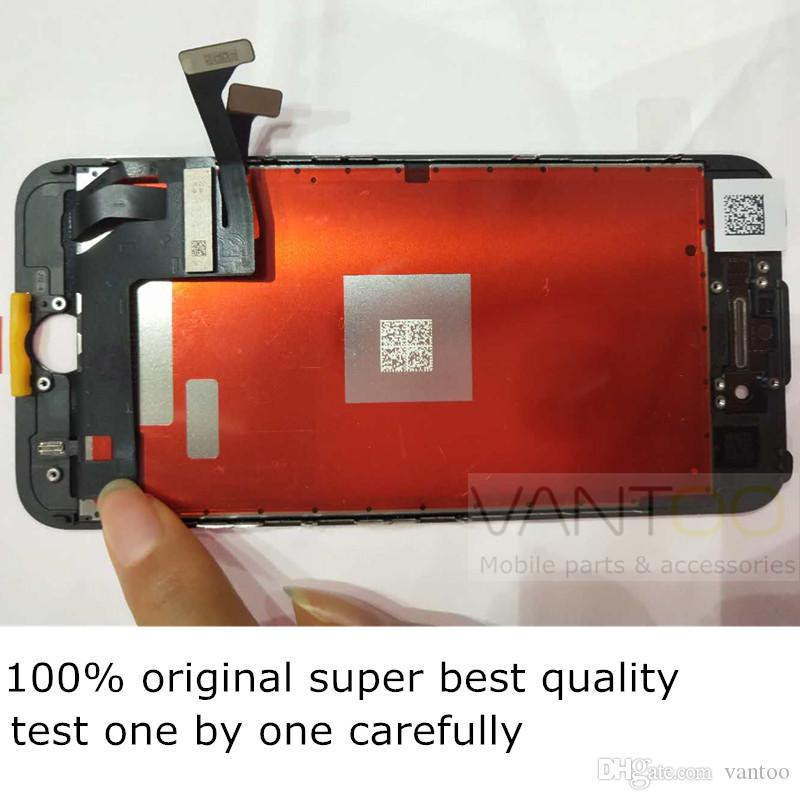 100% OEM Original LCD display screen touch digitizer for iphone 7 7 plus with 1 free tempered glass replacement DHL