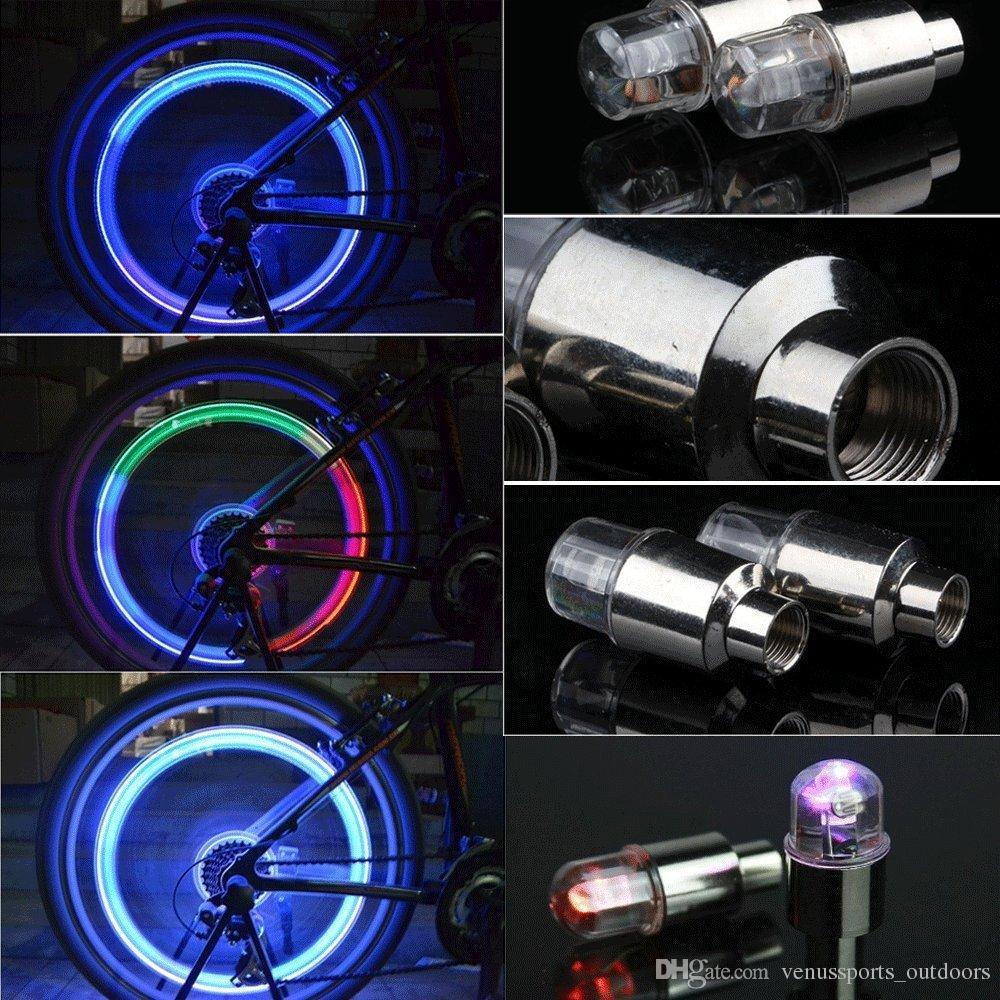 LED Vana Caps Caps Bisiklet Bisiklet Motosiklet DRL Araba LED Tekerlek Işık Fener Lastik Vana Lambası