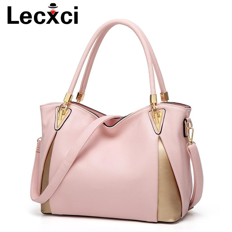 d585051262 Lecxci Women Bag 2018 Famous Brand Luxury Handbag Women Bags Designer  Shoulder Bag Soft Leather High Capacity Handbag Branded Bags Leather  Backpacks From ...