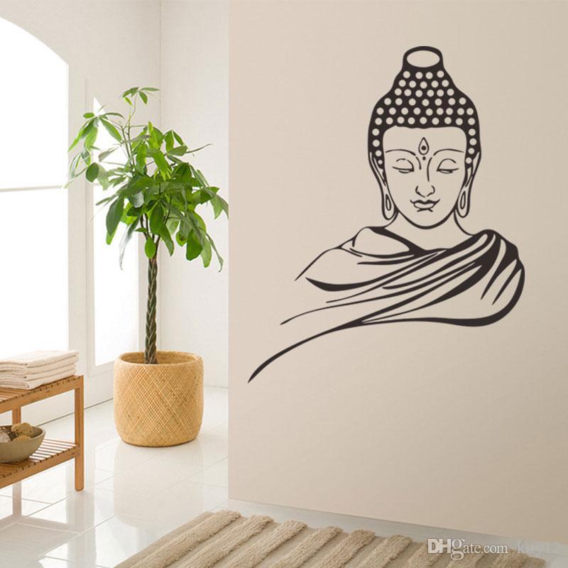 3d poster classic religion buddhism buddha meditation wall stickers