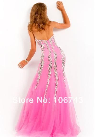 2018 new style Sexy bride wedding sweet princess Custom size Small tail beading mermaid prom dress