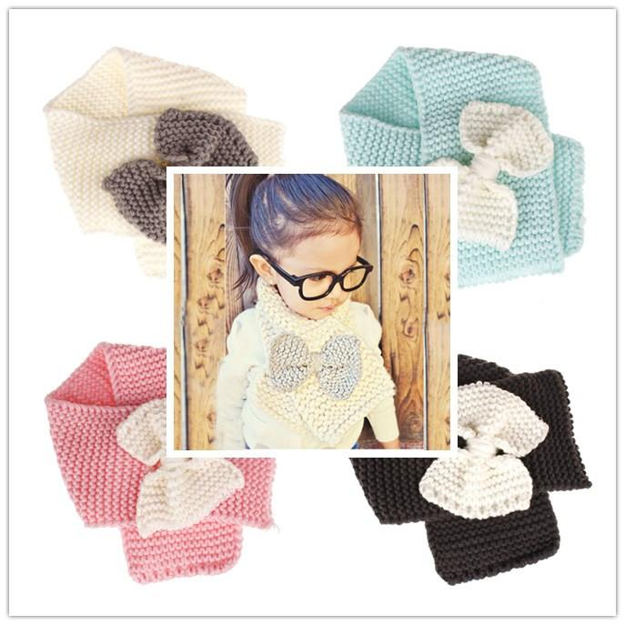 Winter Kids Knitted Scarf Fashion Wool Warm Neck Scarves For Girls