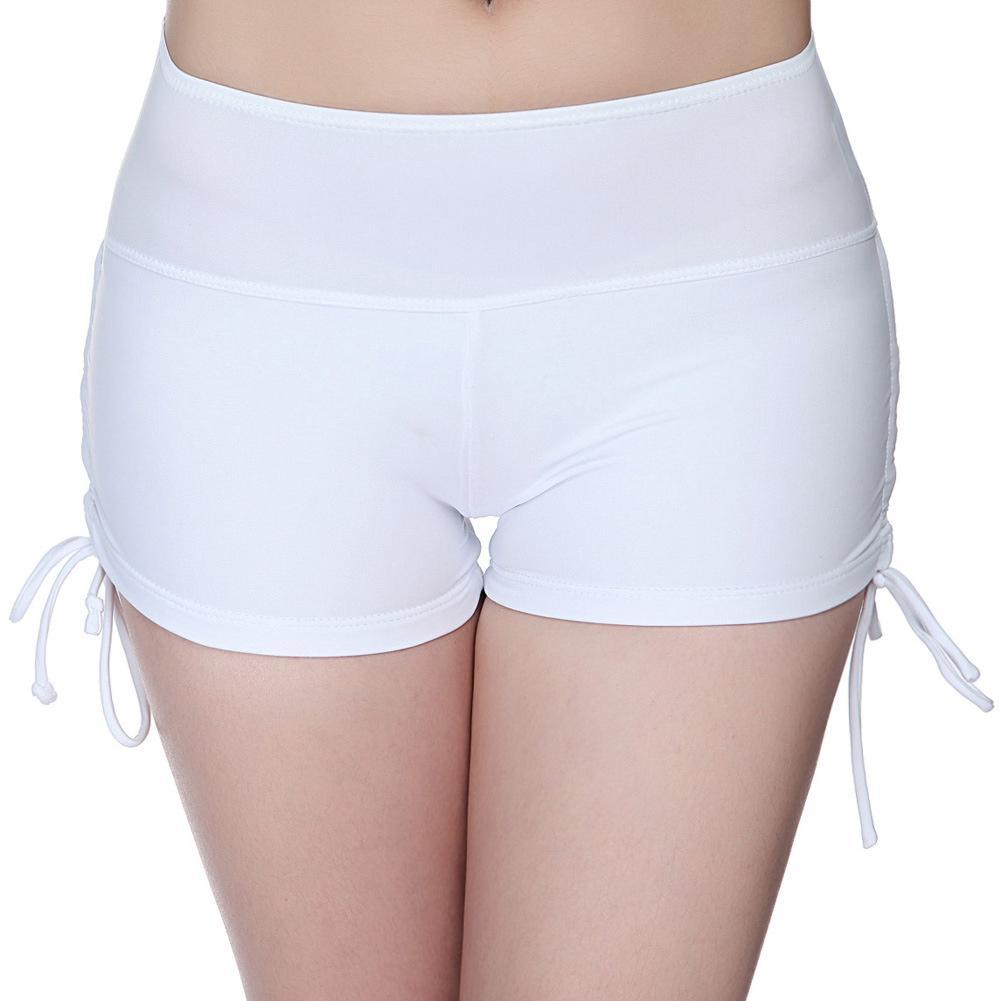 e95cc1173 Compre Mulheres Swimwear Bikini Bottom Drawstring Praia Wear Maiô Briefs Maiô  Shorts De Cintura Alta BB55 De Dalivid