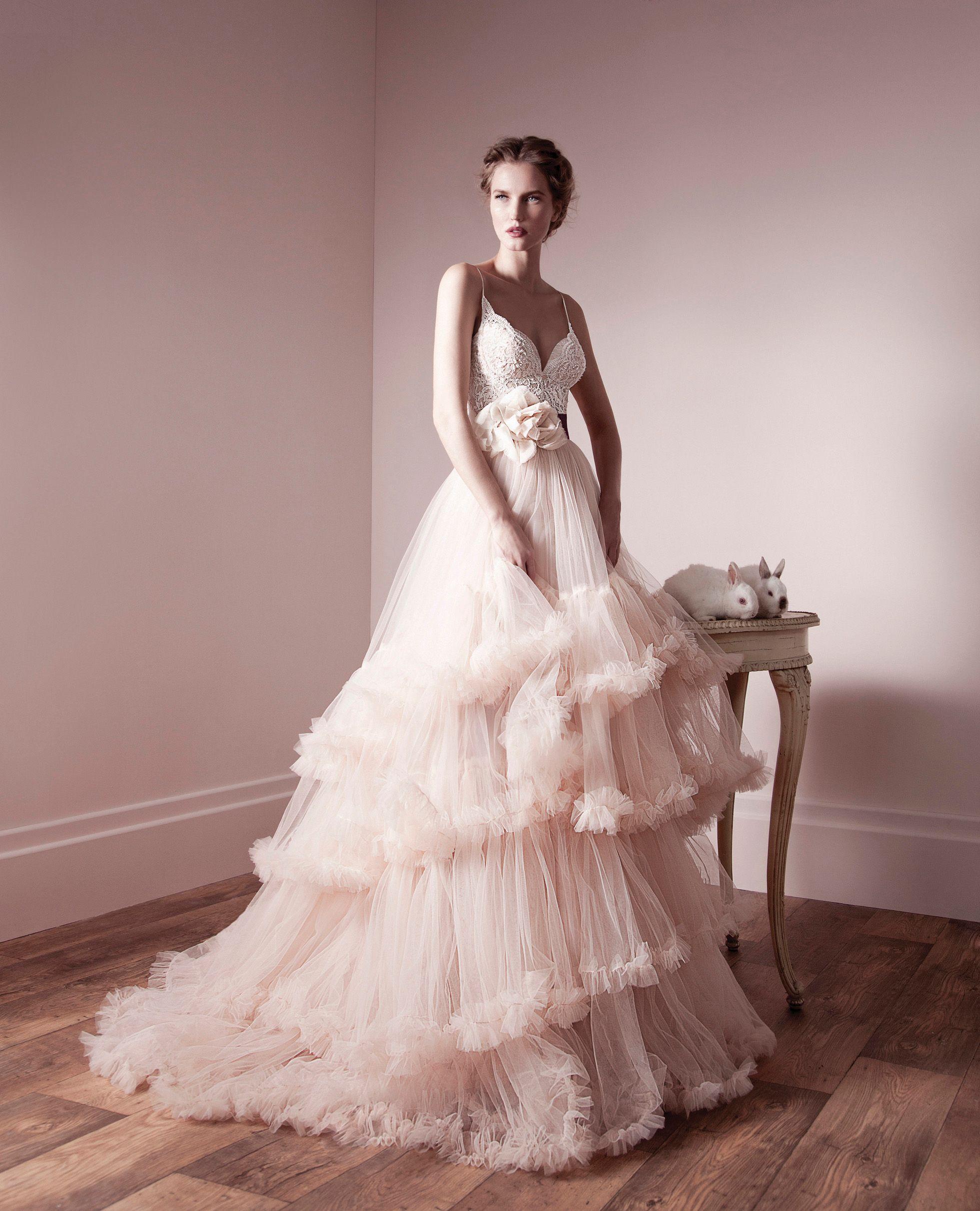 Discount 2018 A Line Bohemian Wedding Dresses Tiered Ruffle