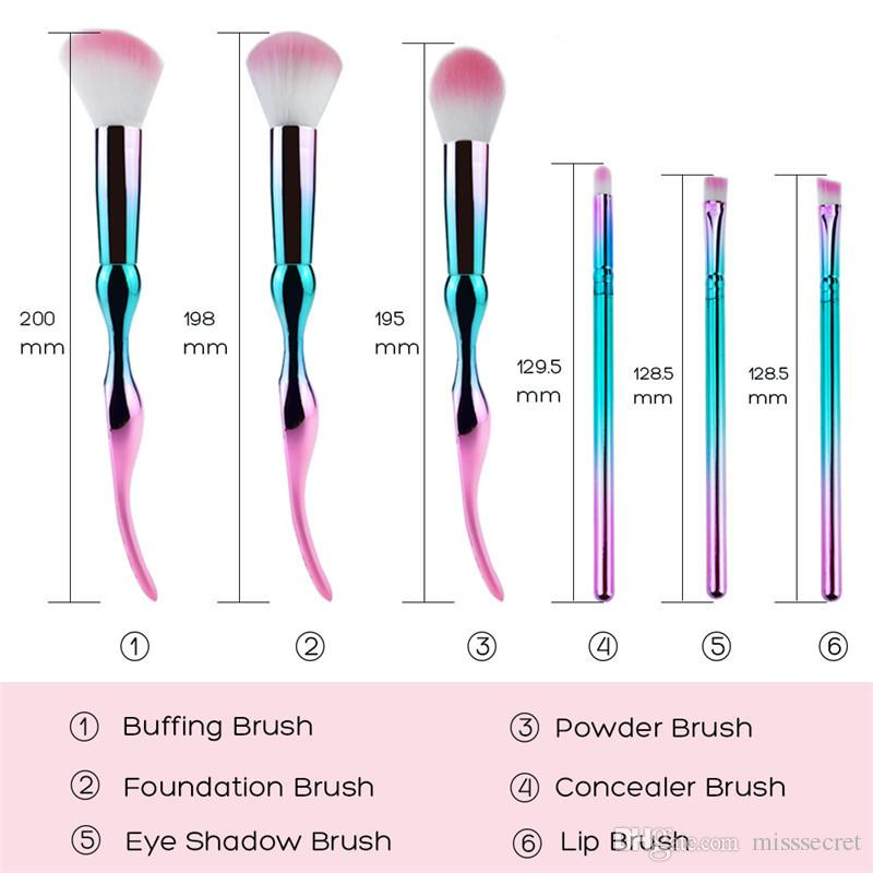 Women Flowers Makeup Brushes Set Powder Foundation concealer brush lip brush eyeshadow brush Gradient Color Makeup Brushes