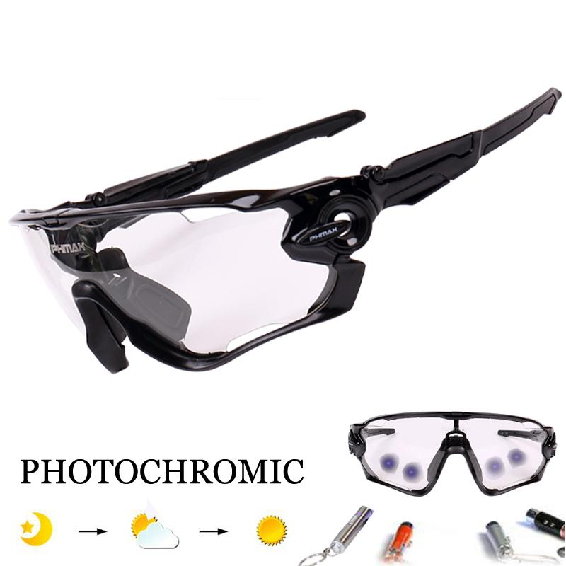 1e695eb57d Photochromic Polarized 5 Lens Cycling Glasses Racing Bicycle Eyewear ...